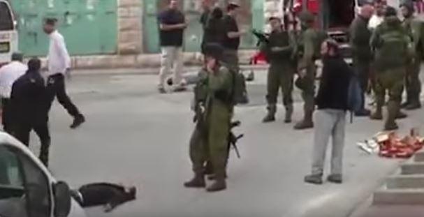 תיעוד הירי במחבל בחברון