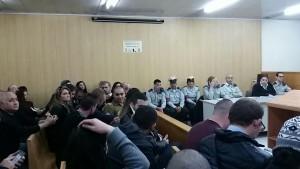 הכרעת הדין של אלאור אזריה. בית הדין הצבאי, הקריה, תל אביב. צילום: אסף יחזקאלי