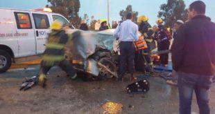 """התאונה בכביש ב-24 בינואר. צילום: דוברות מד""""א"""