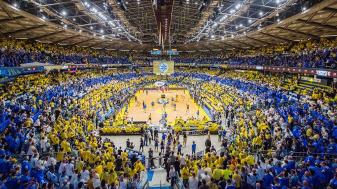"""אוהדי מכבי יזכו לראות גביע אירופי שביעי? צילום באדיבות האתר הרשמי מכבי ת""""א"""
