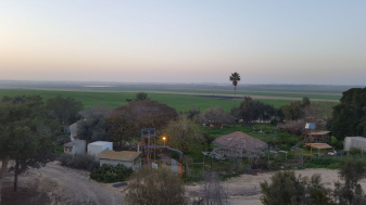 קיבוץ כפר עזה ממבט על. צילום: גיא שלומי