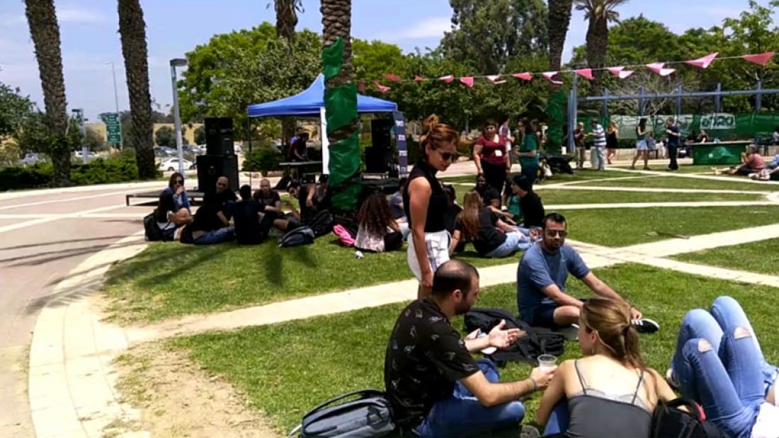 סטודנטים בכיכר. שבוע בחירות לאגודת הסטודנטים 2018