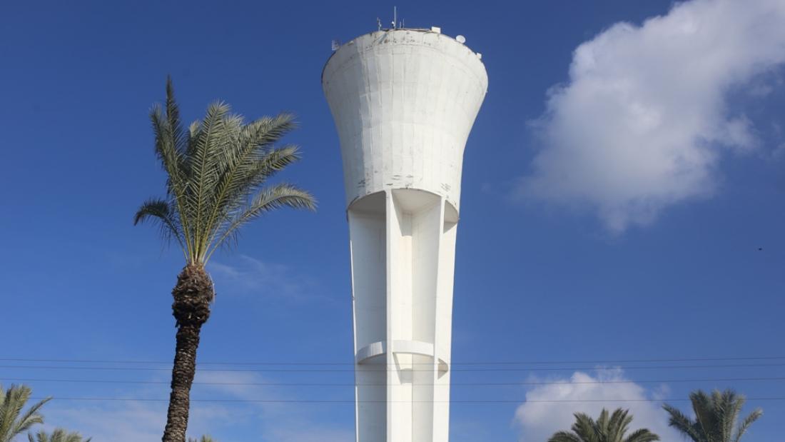 מגדל המים בנתיבות. צילום: נעה פישר