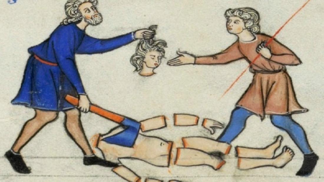 ביתור גופת הפילגש (ציור מימי הביניים)