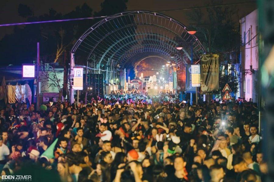 מסיבת הרחוב בבאר שבע, בשנה שעברה. צילום: עדן זמר