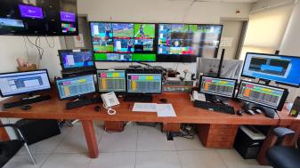 חדר שידור בספורט 1. צילום: איגנסיו ברנבאום