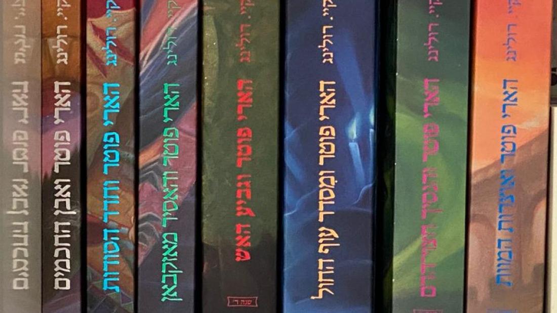 סדרת ספרי הארי פוטר בעברית. צילום: אופיר ליבה