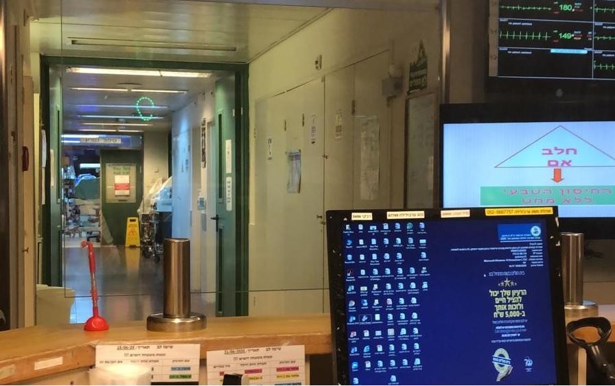 שממה במחלקה. בית החולים שיבא בתל השומר. צילום: חנין אבו סכות